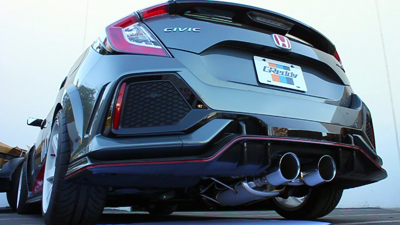 greddy supreme exhaust system stainless steel 76mm civic 2017 type r fk8