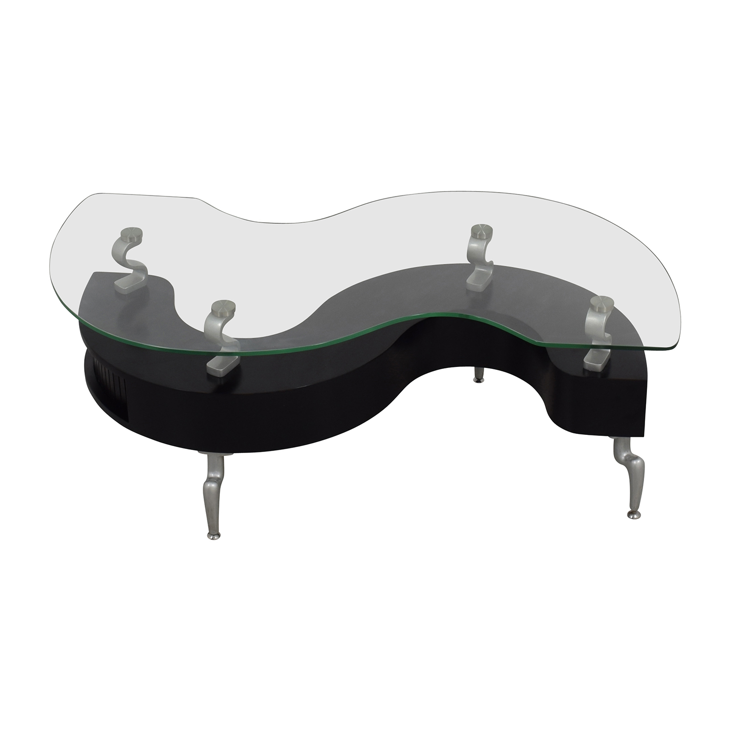 88 off contemporary s shaped contemporary coffee table tables