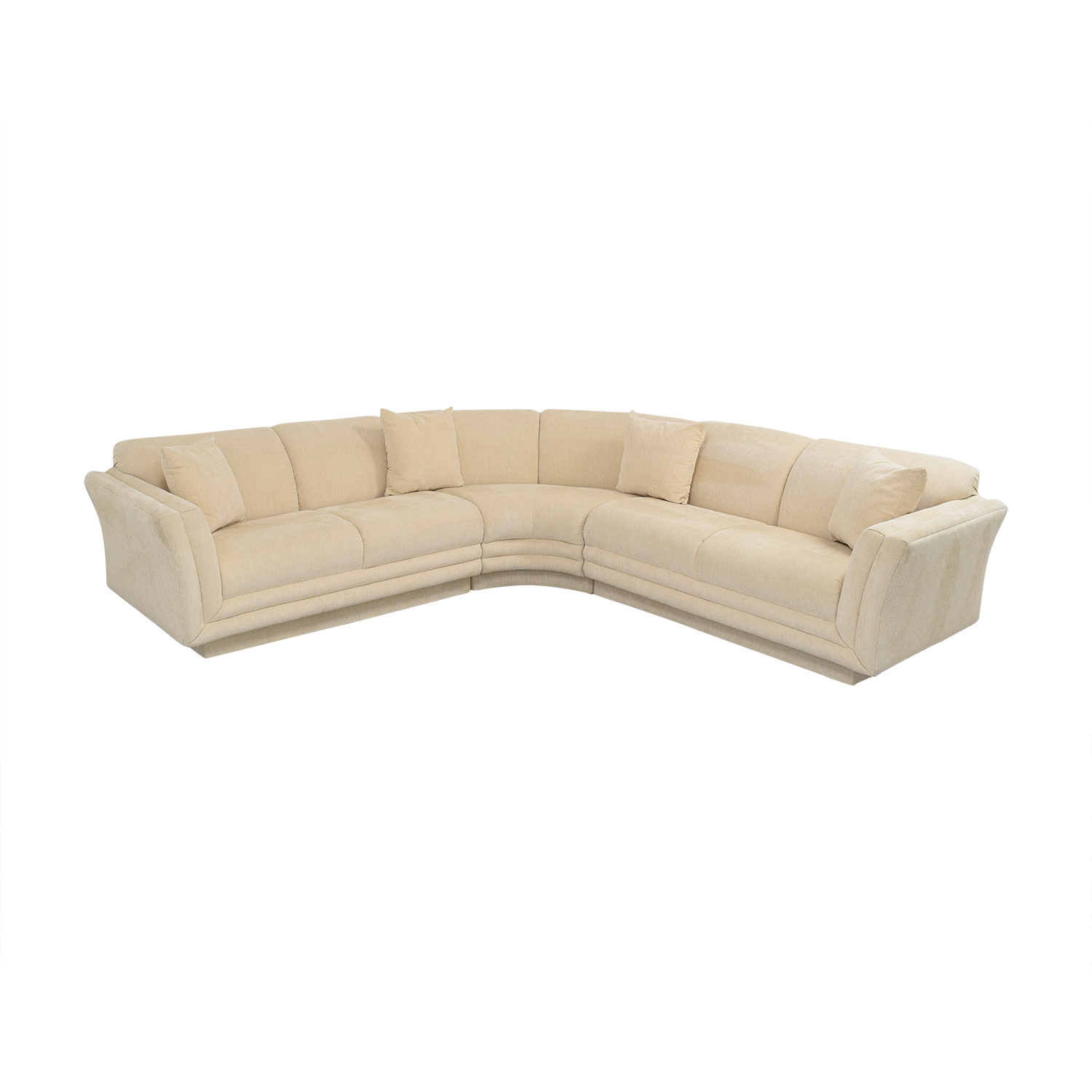 81 off huffman koos huffman koos curved sectional sofa sofas