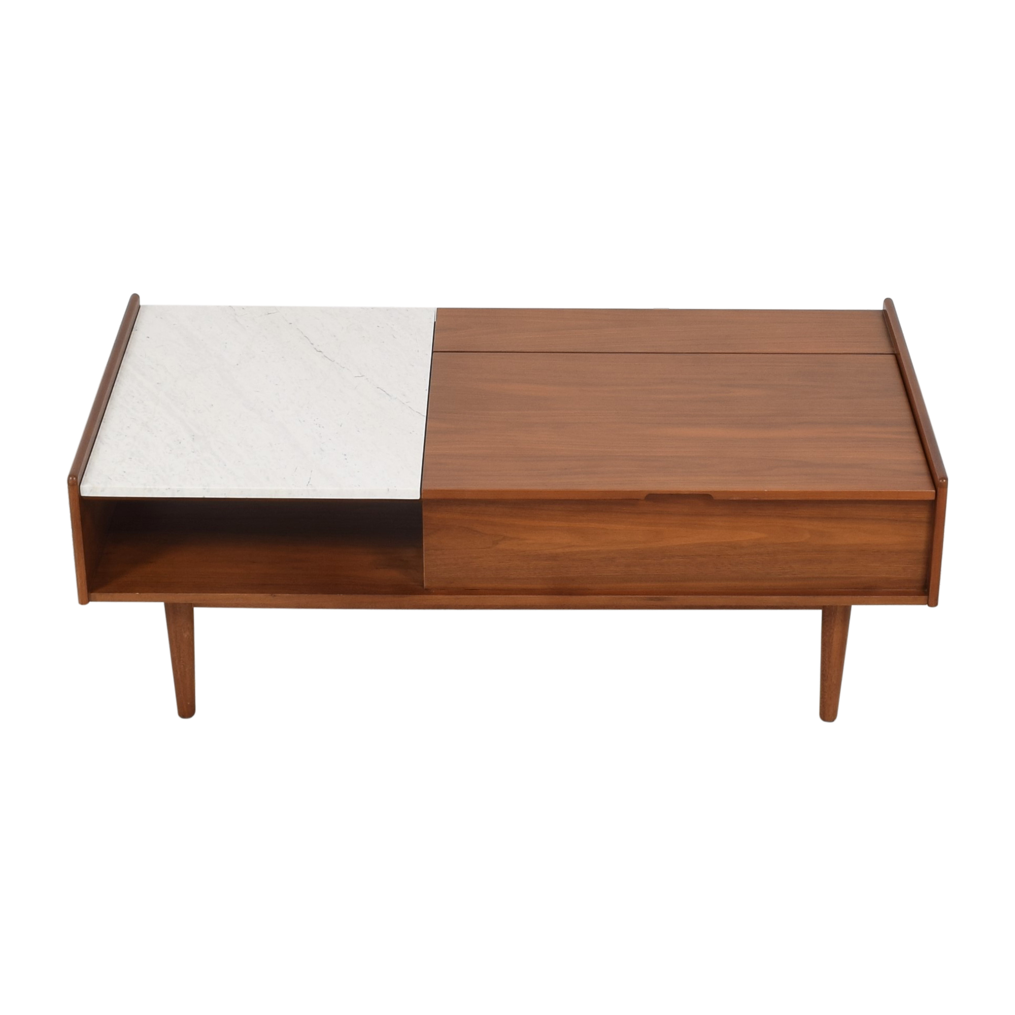 26 off west elm west elm mid century pop up storage coffee table tables