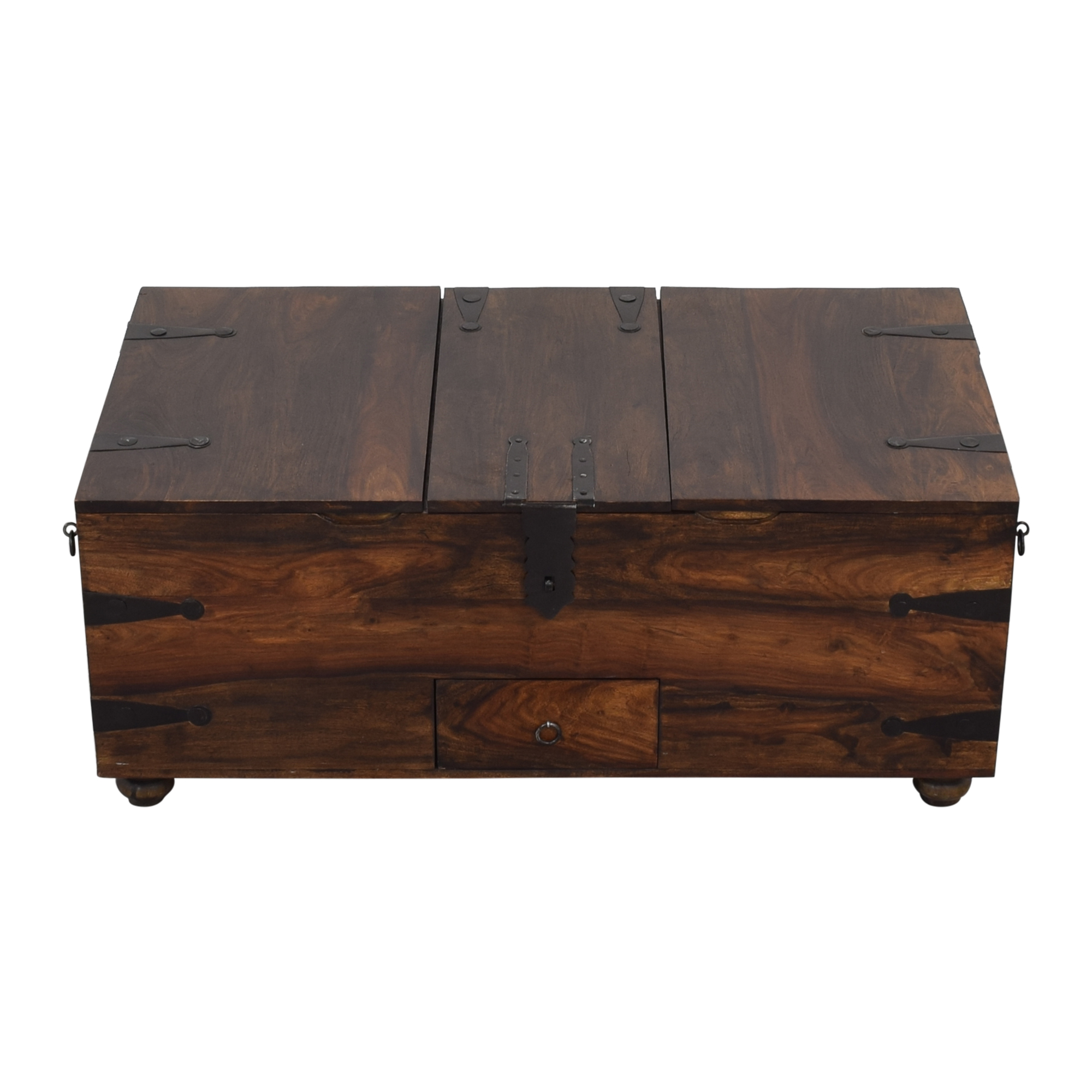 56 off crate barrel crate barrel taka trunk and coffee table storage