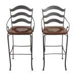 74 Off Ethan Allen Ethan Allen Legacy Russet Bar Stools Chairs
