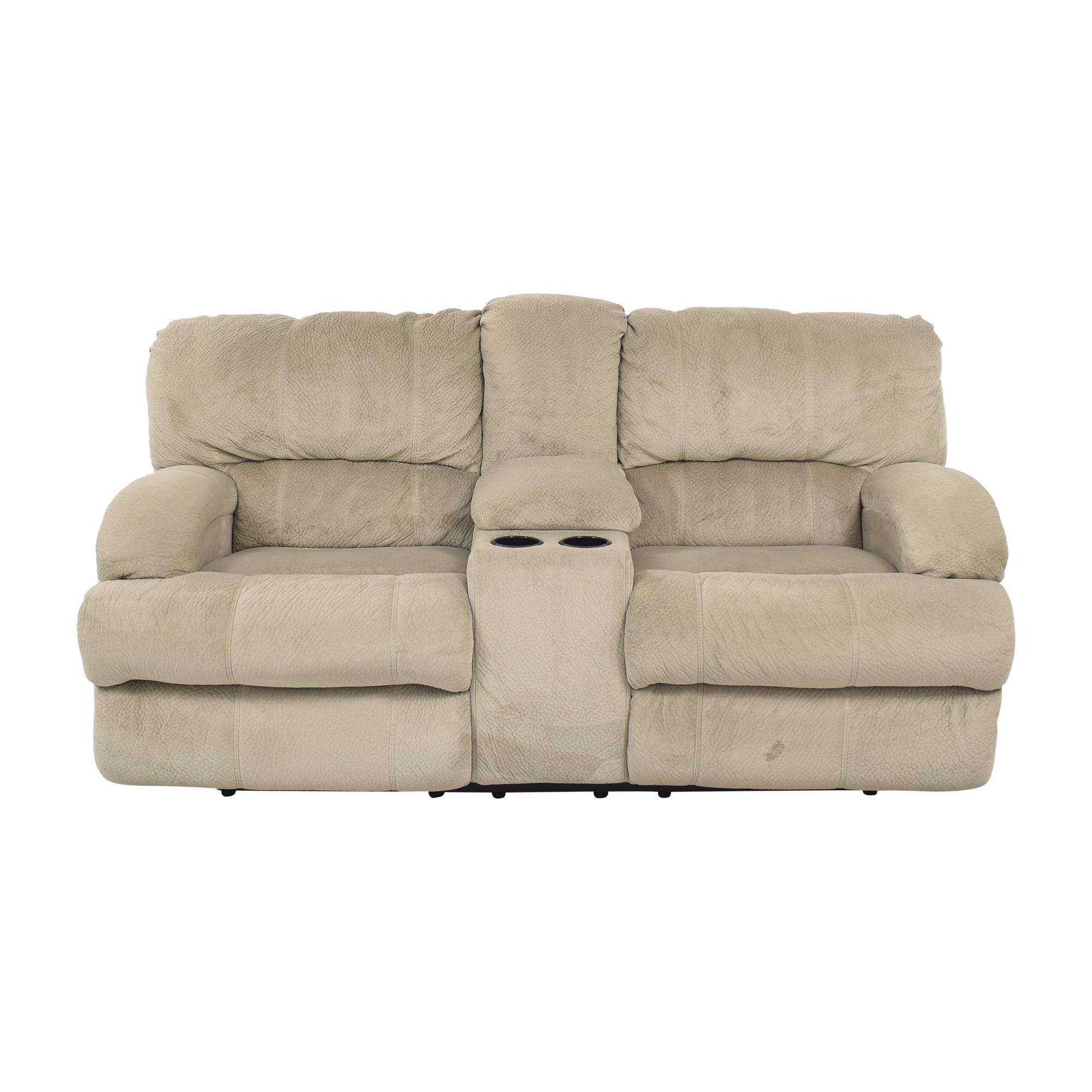 77 off raymour flanigan raymour flanigan microfiber reclining sofa sofas