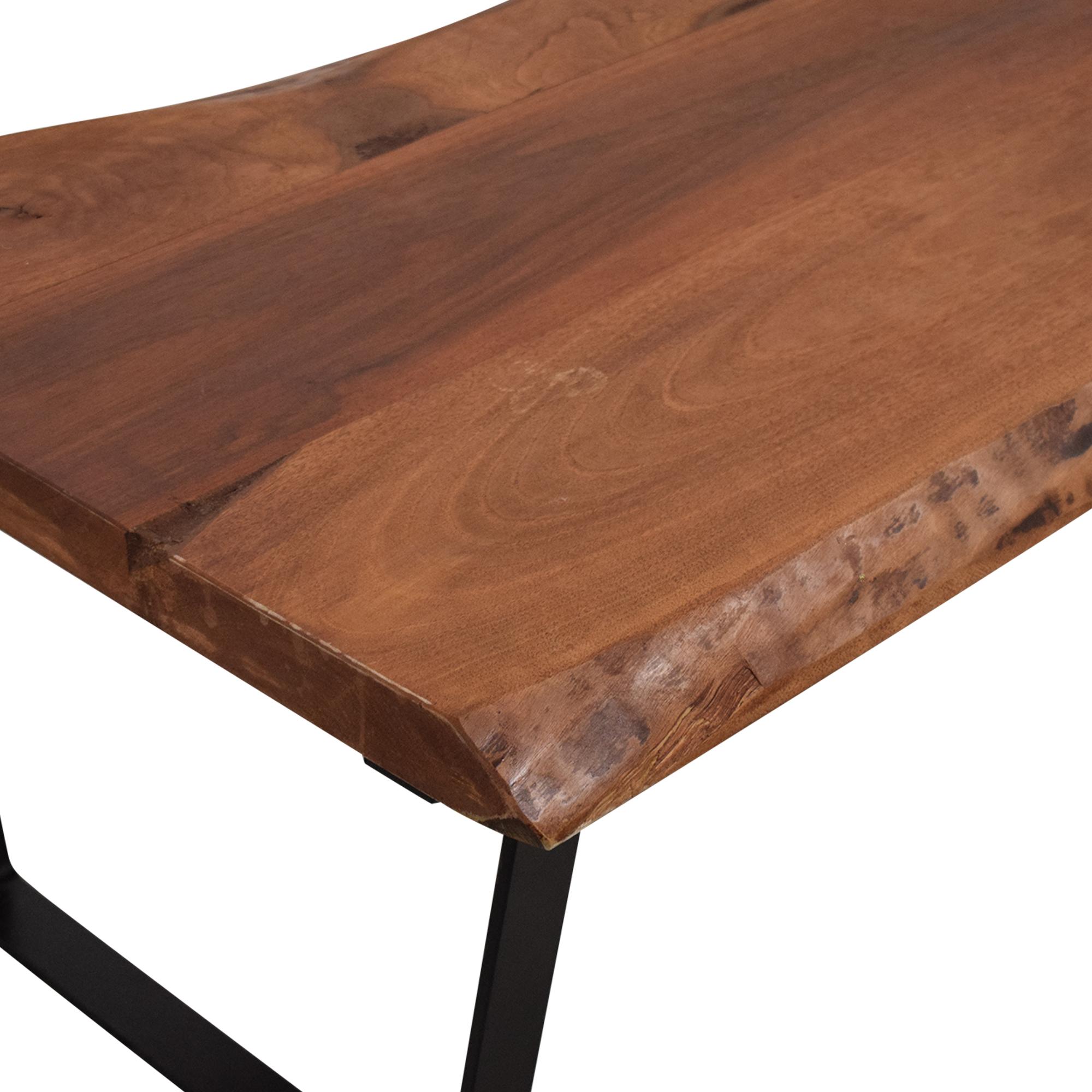 62 off modern wood coffee table on metal legs tables