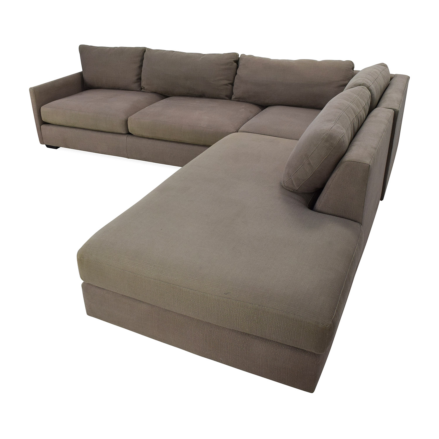 82 off crate barrel crate barrel domino sectional sofa sofas