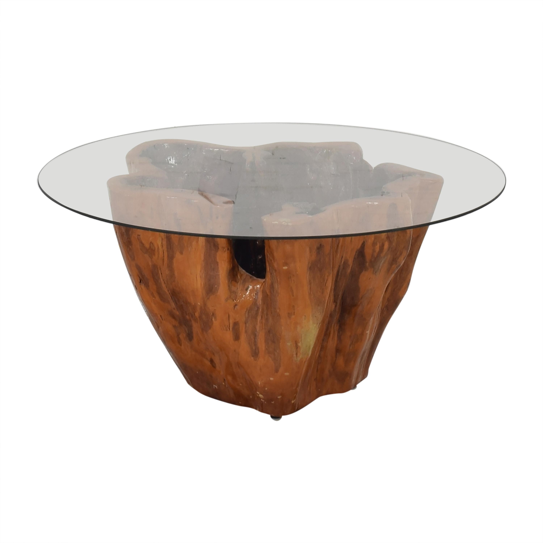40 off tree stump coffee table tables