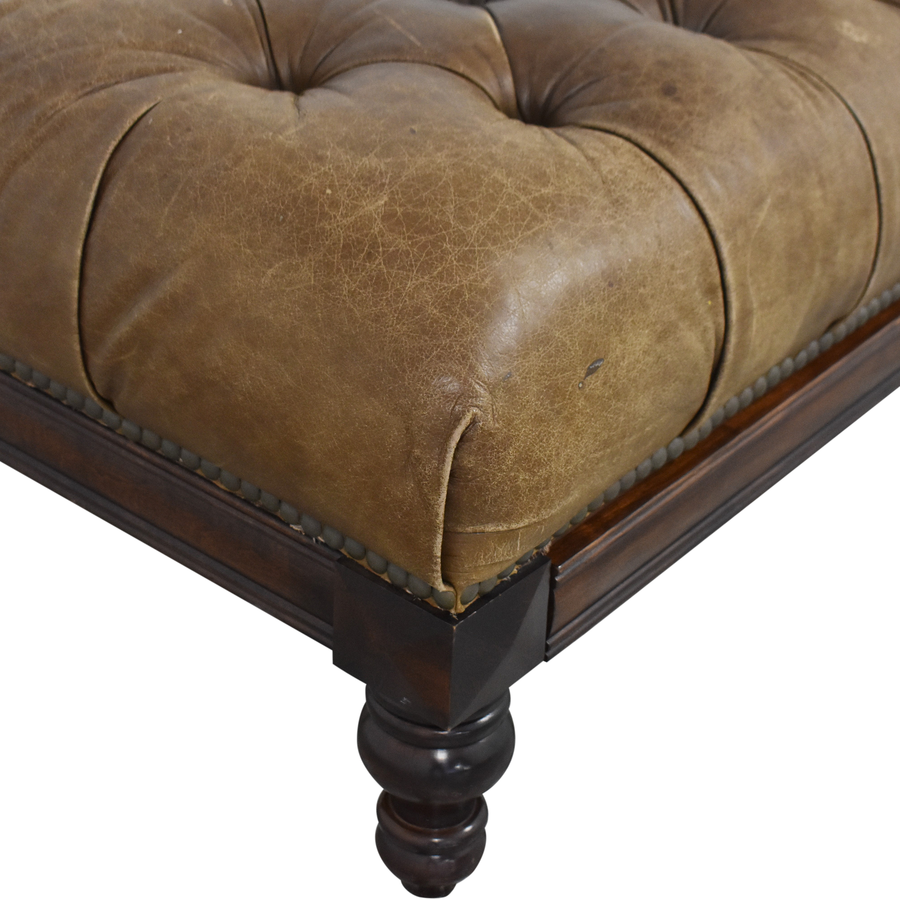 73 off alexvale alexvale tufted ottoman with pull out tray chairs