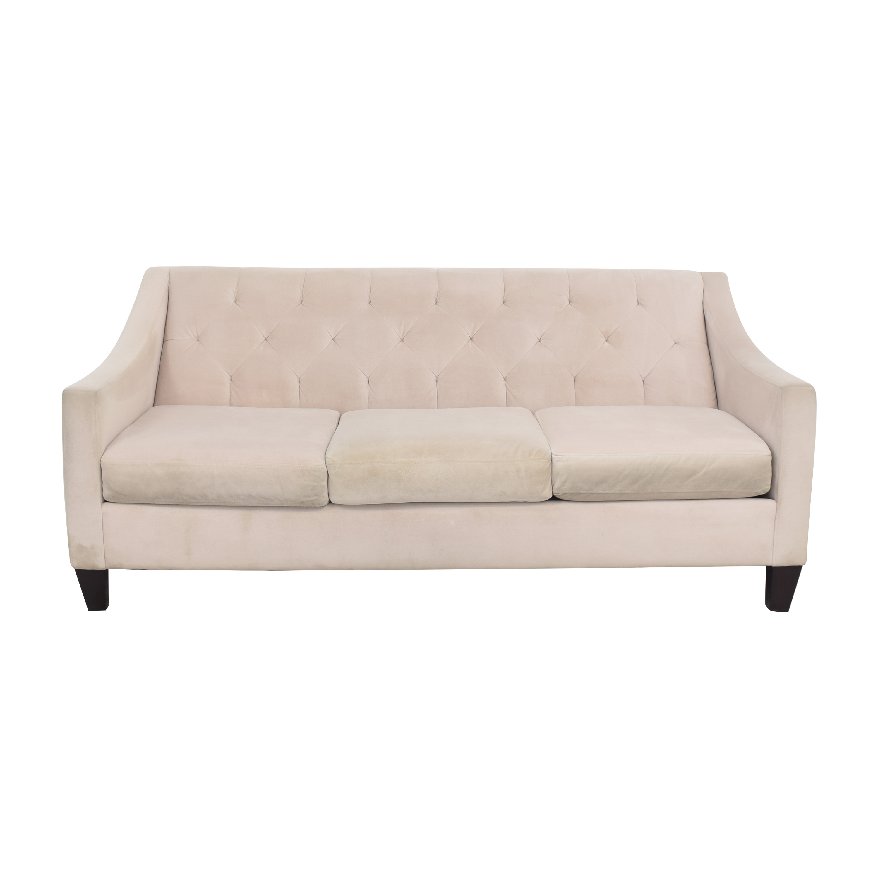 78 Off Max Home Max Home Tufted Microfiber Three Cushion Couch Sofas