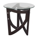 64 Off Modern End Table With Transparent Surface Tables