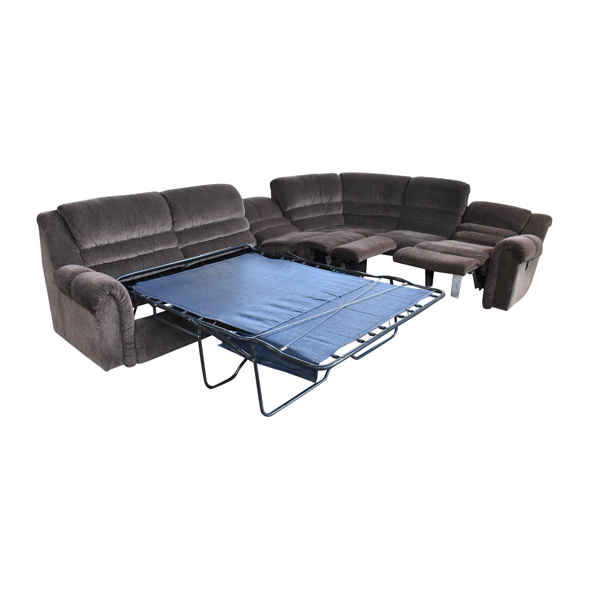 65 off la z boy la z boy sleeper sectional sofa with recliners sofas