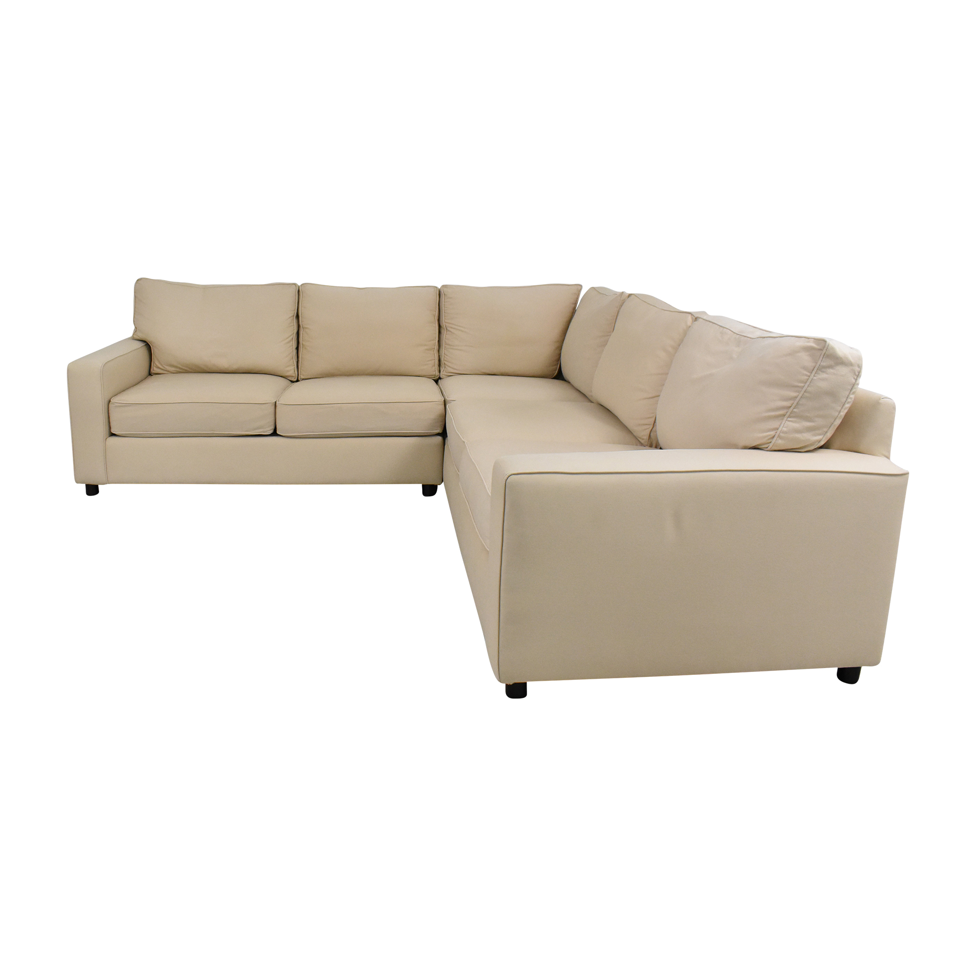 73 off pottery barn pottery barn pb comfort square arm upholstered 3 piece l sectional sofas
