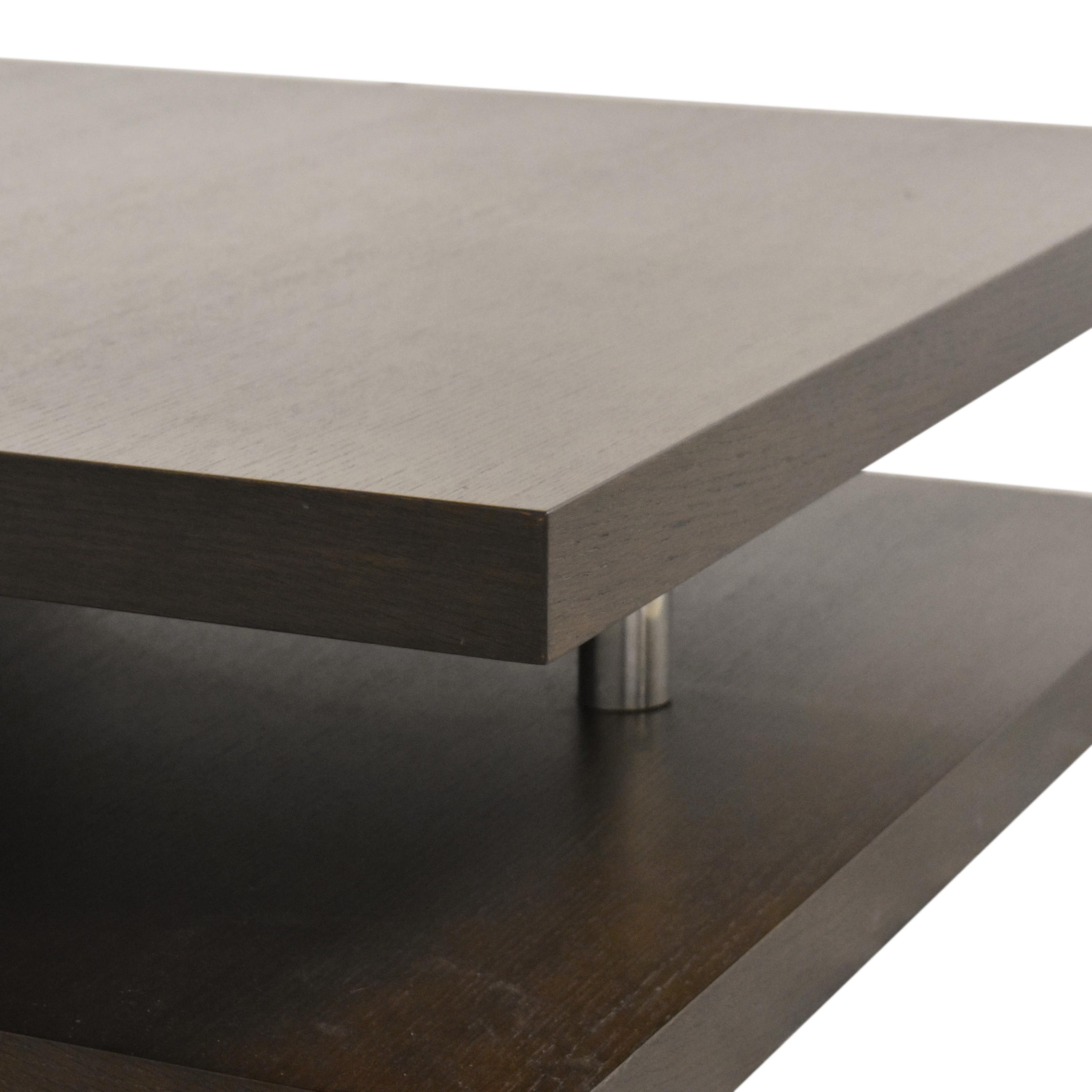 66 off contemporary square coffee table tables