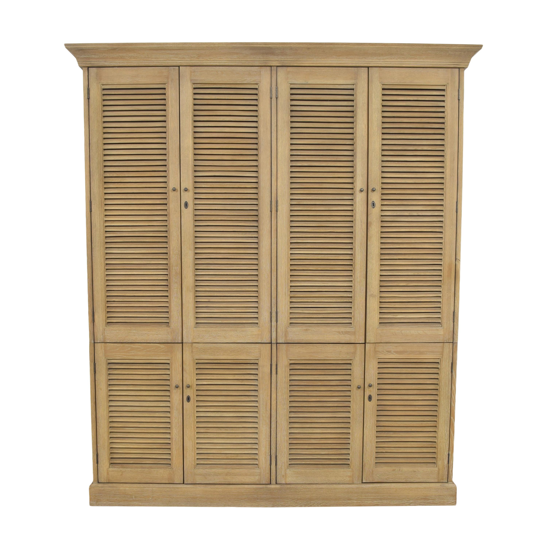 59 off restoration hardware restoration hardware shutter double armoire storage