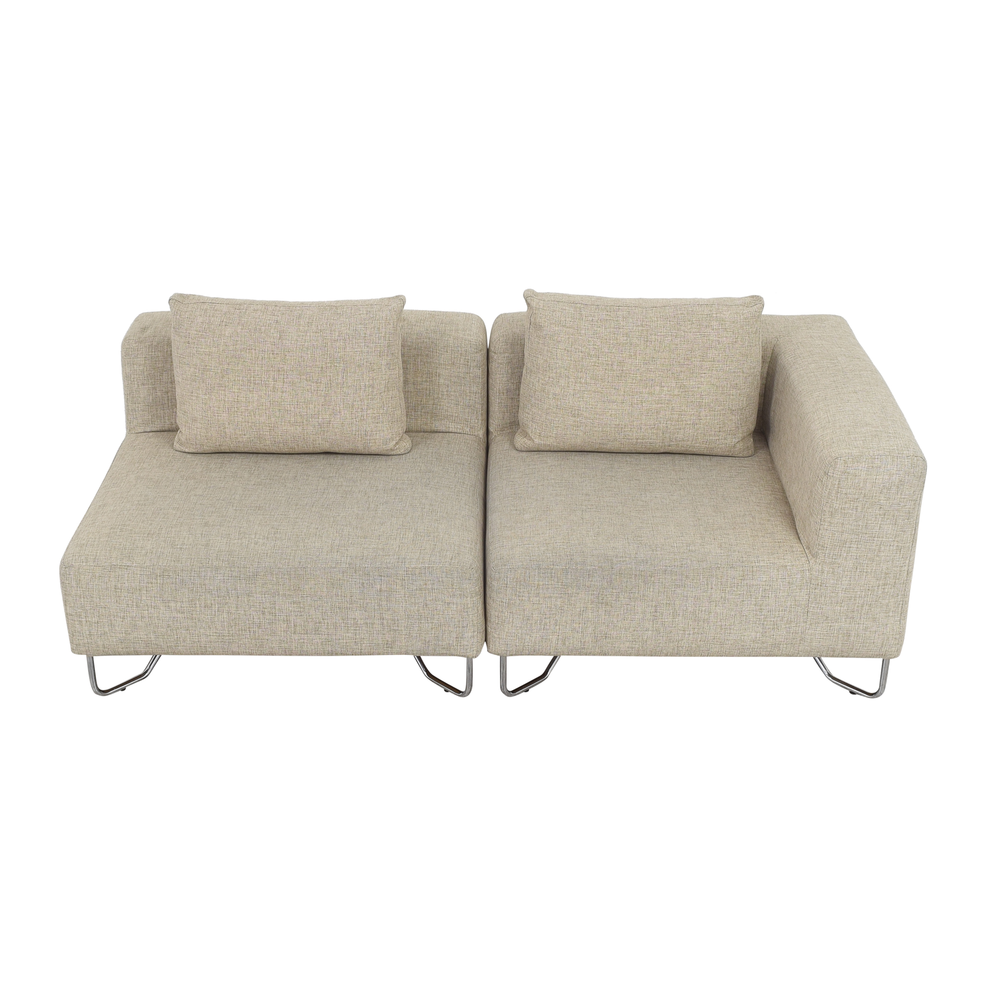 39 off cb2 cb2 lotus two piece sectional sofa sofas