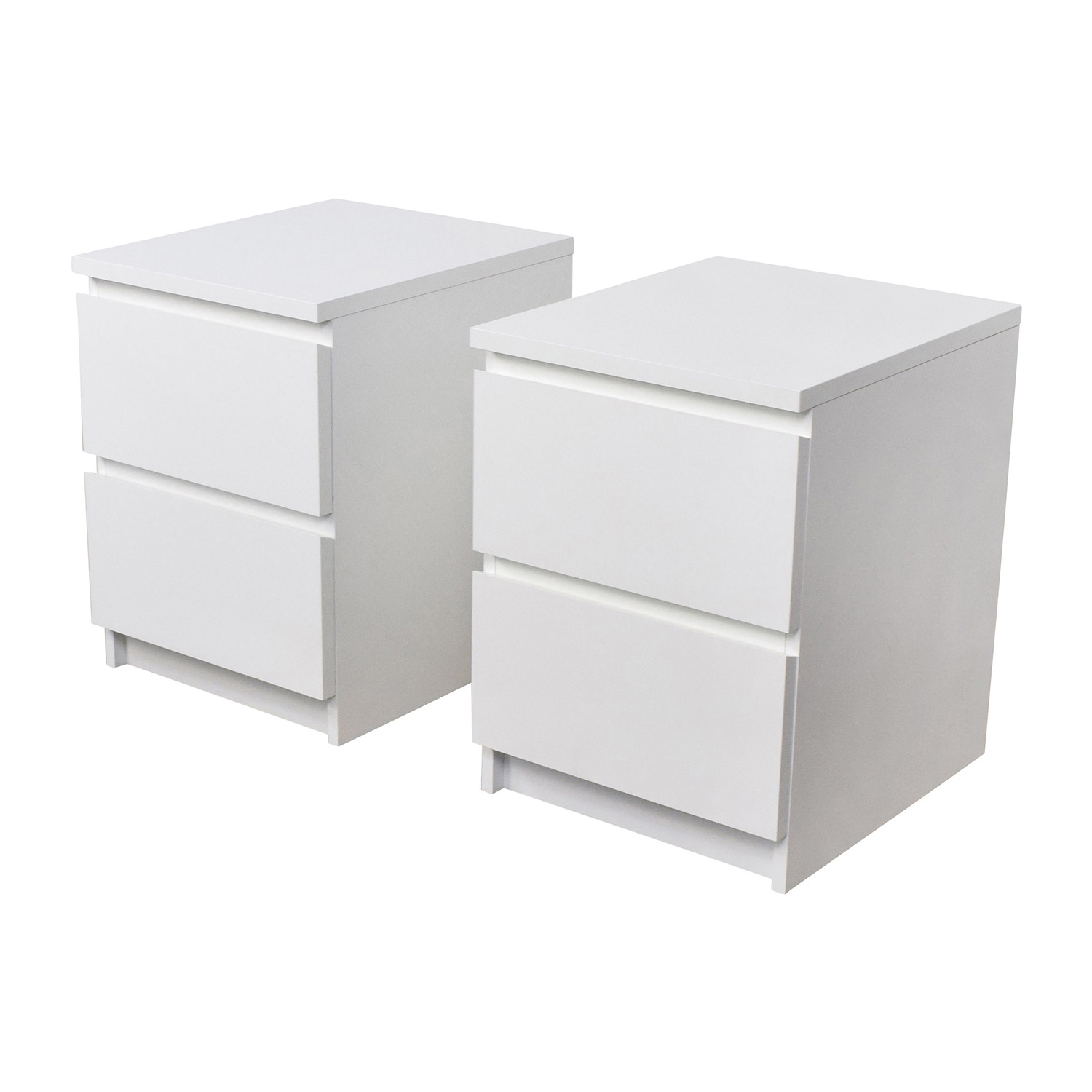 40 Off Ikea Ikea Malm White Two Drawer End Tables Tables