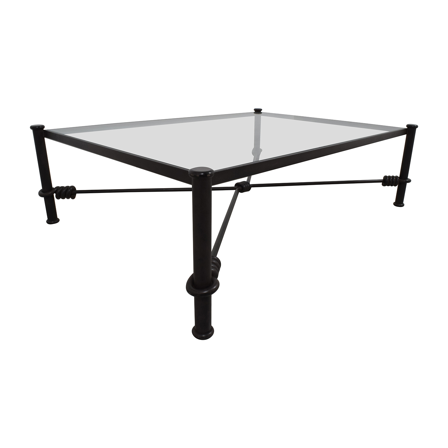 88 off black wrought iron glass coffee table tables