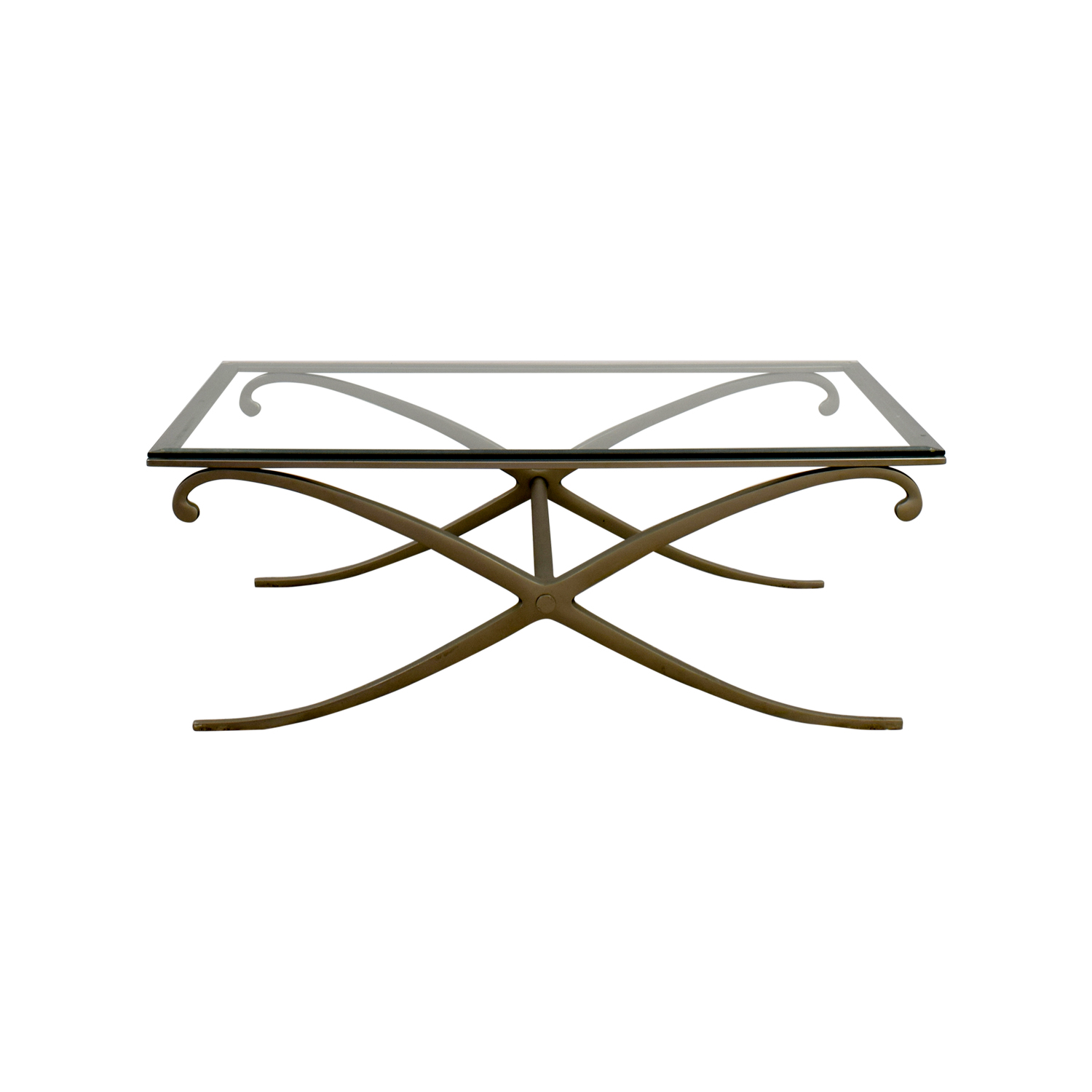 90 off glass and pewter coffee table tables