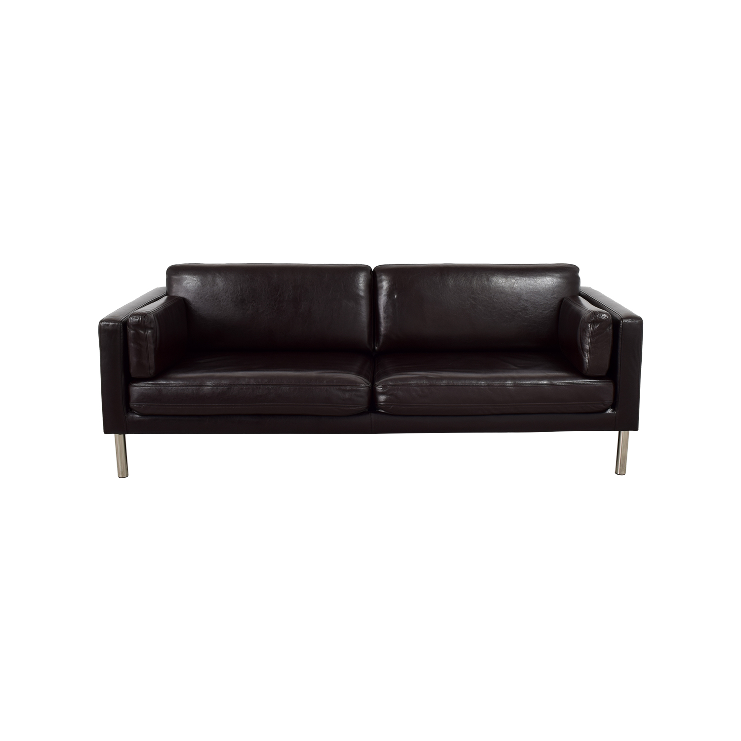 41 off ikea ieka sater brown leather couch sofas