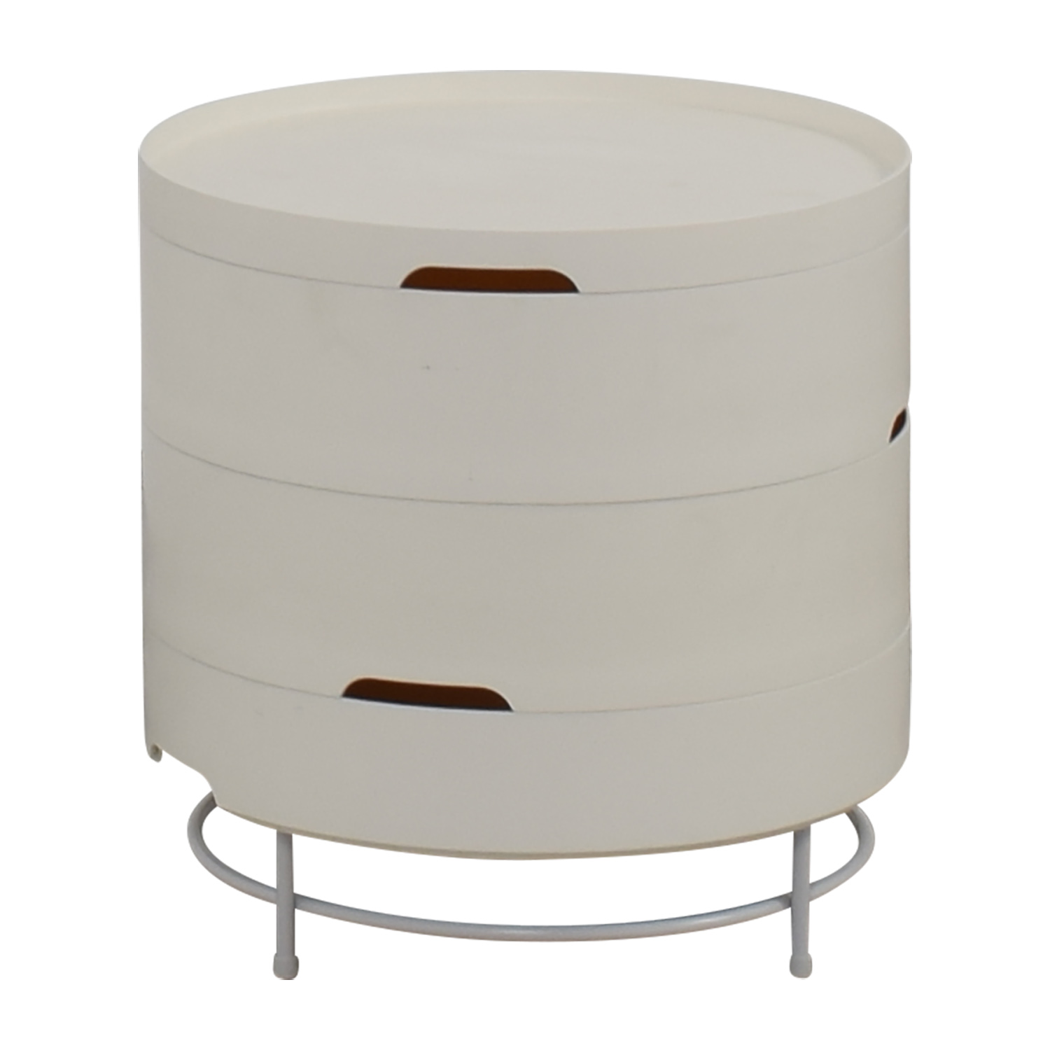 57 Off Ikea Ikea Ps 2014 White Round Storage Table Tables