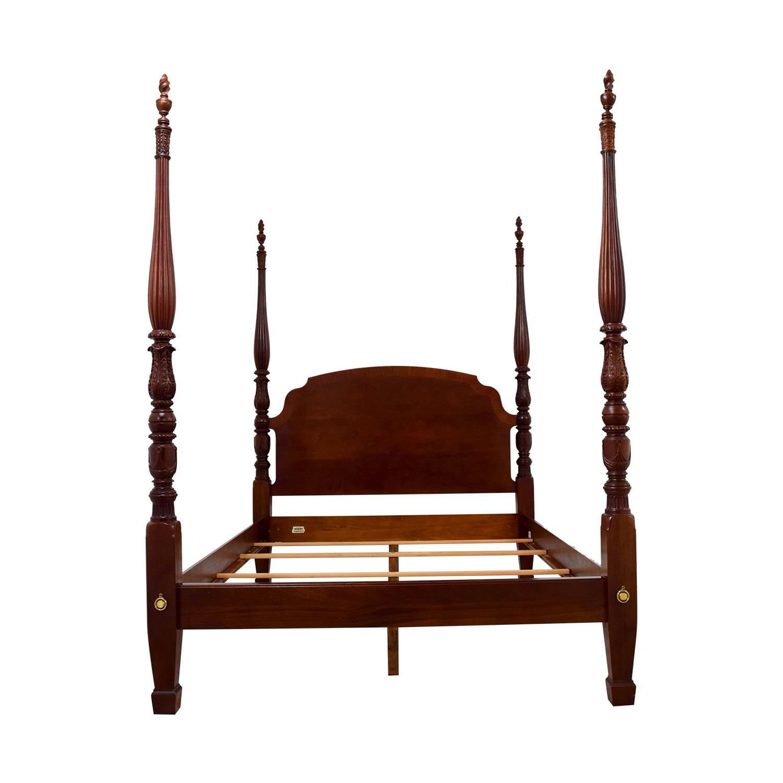 90 off ethan allen ethan allen cherry british classics queen size poster bed beds