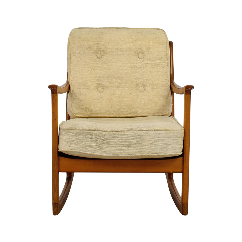 68 Off John Stuart Inc John Stuart Inc Mid Century Danish Beige Teak Rocking Chair Chairs