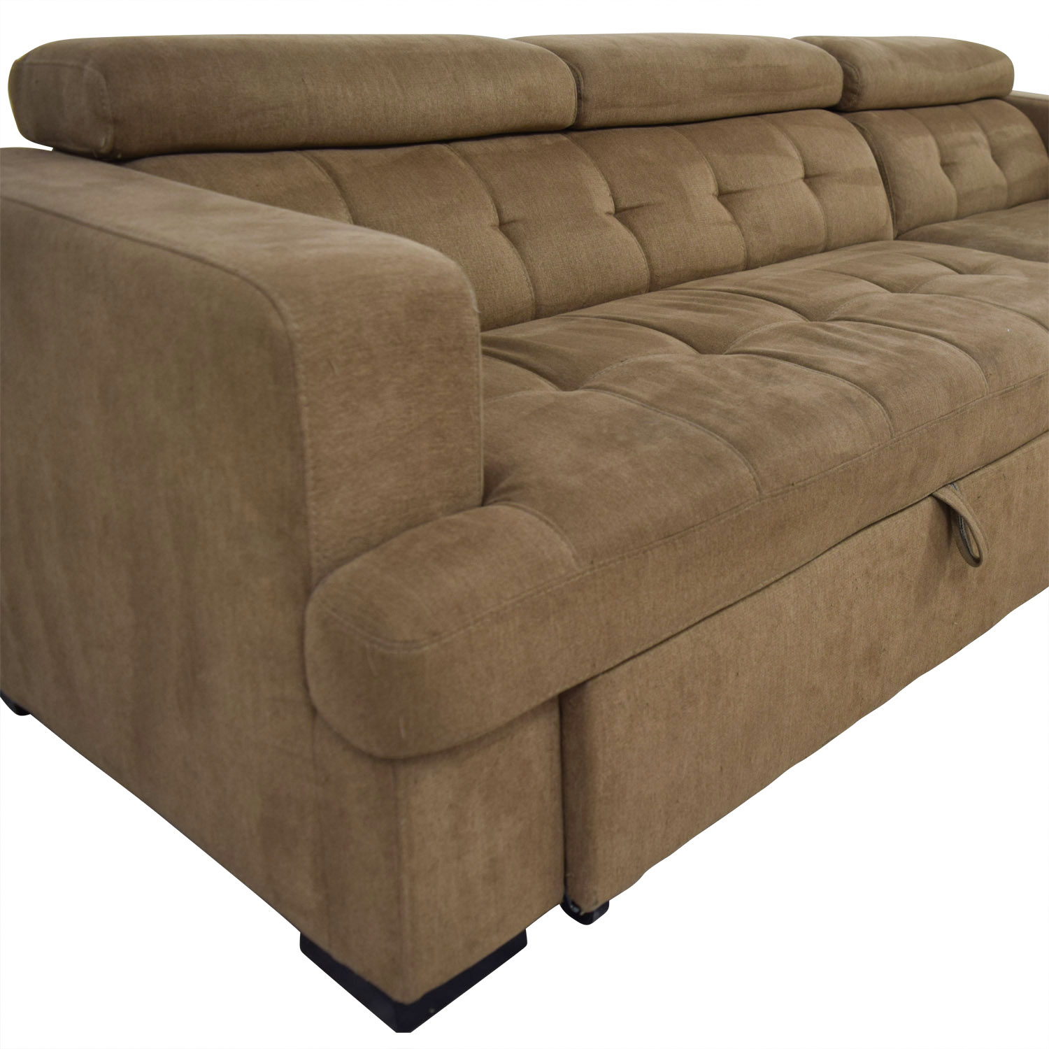 40 Off Bob S Discount Furniture Bob S Furniture Brown Pull Out With Chaise Storage Sofas