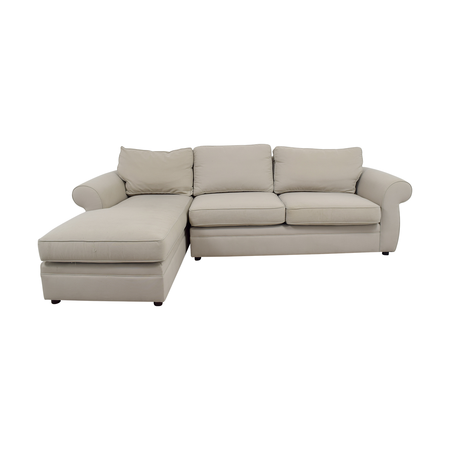 90 off pottery barn pottery barn townsend cream upholstered chaise sectional sofas