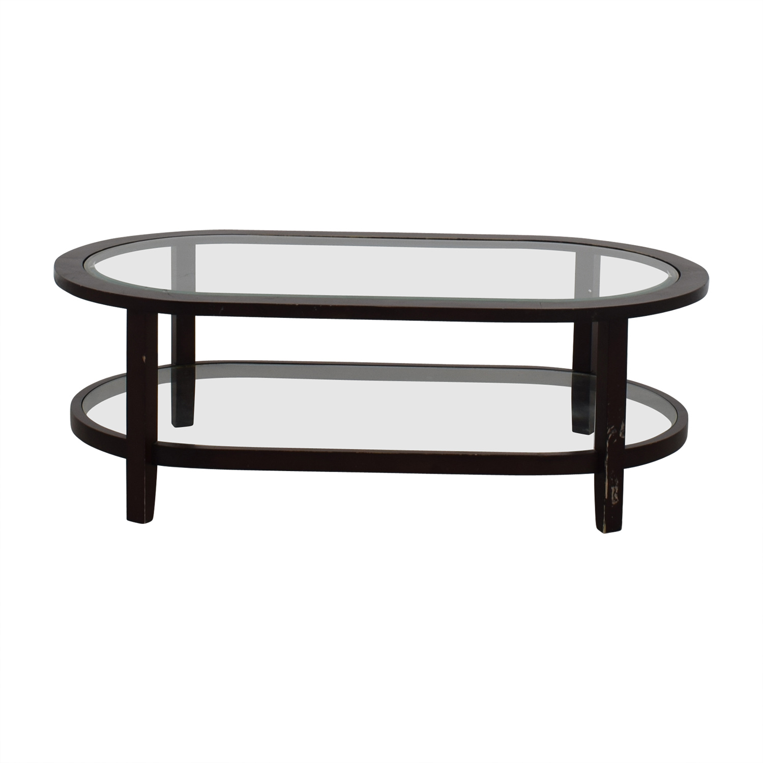 72 off crate barrel crate barrel oval glass coffee table tables