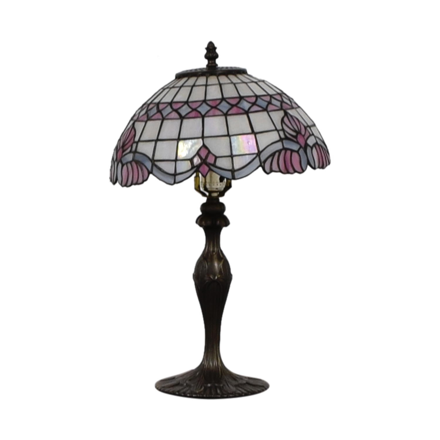 33 Off Tiffany Inspired Stained Glass Table Lamp Decor