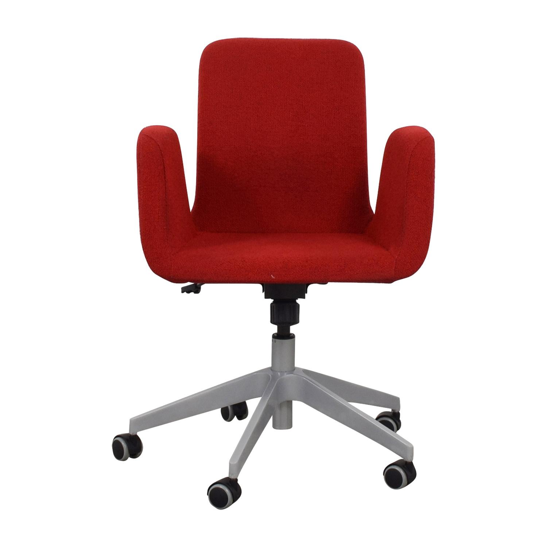 51 Off Ikea Ikea Patrik Rolling Desk Chair Chairs