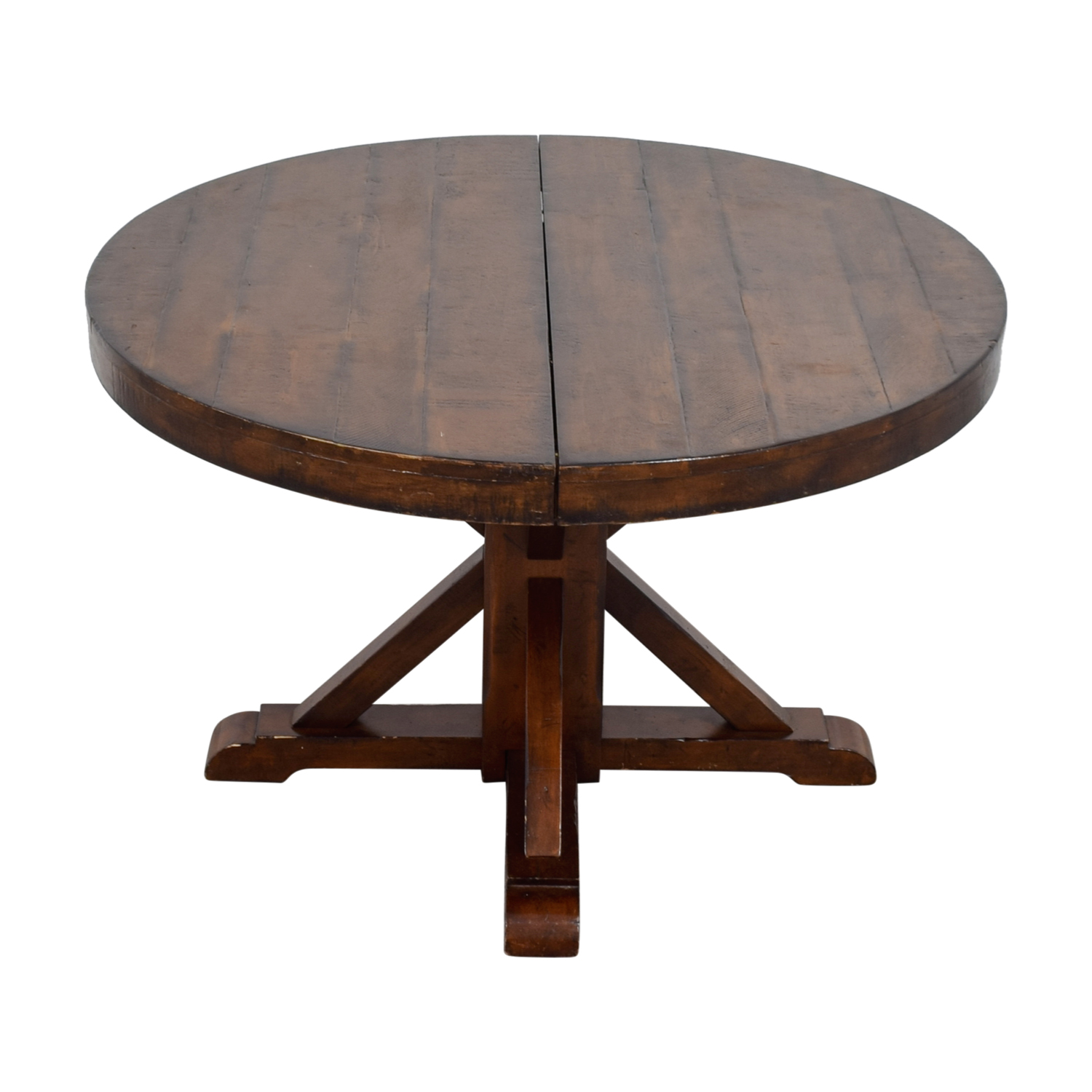 54 off pottery barn pottery barn benchwright extending round pedestal dining table tables