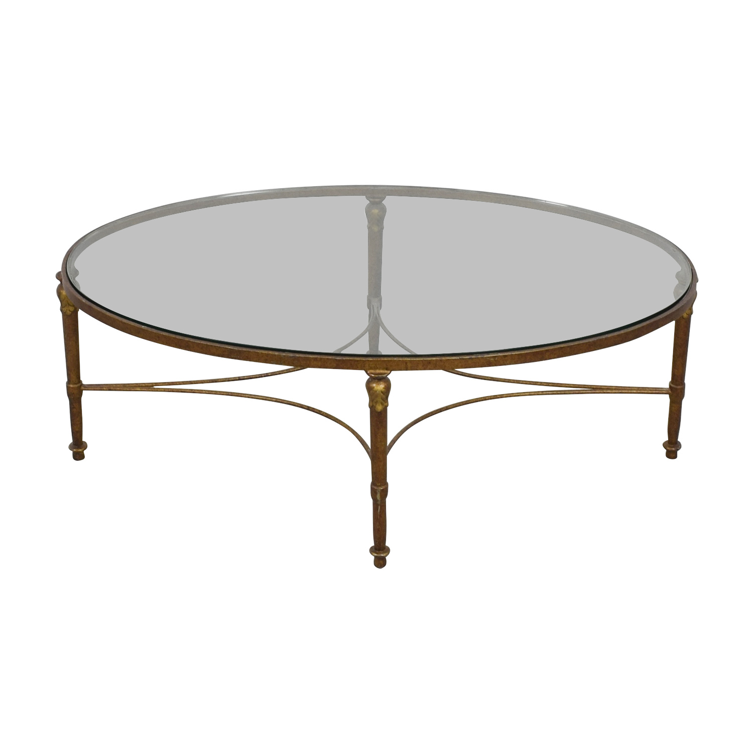 90 off oval wrought iron framed glass table tables