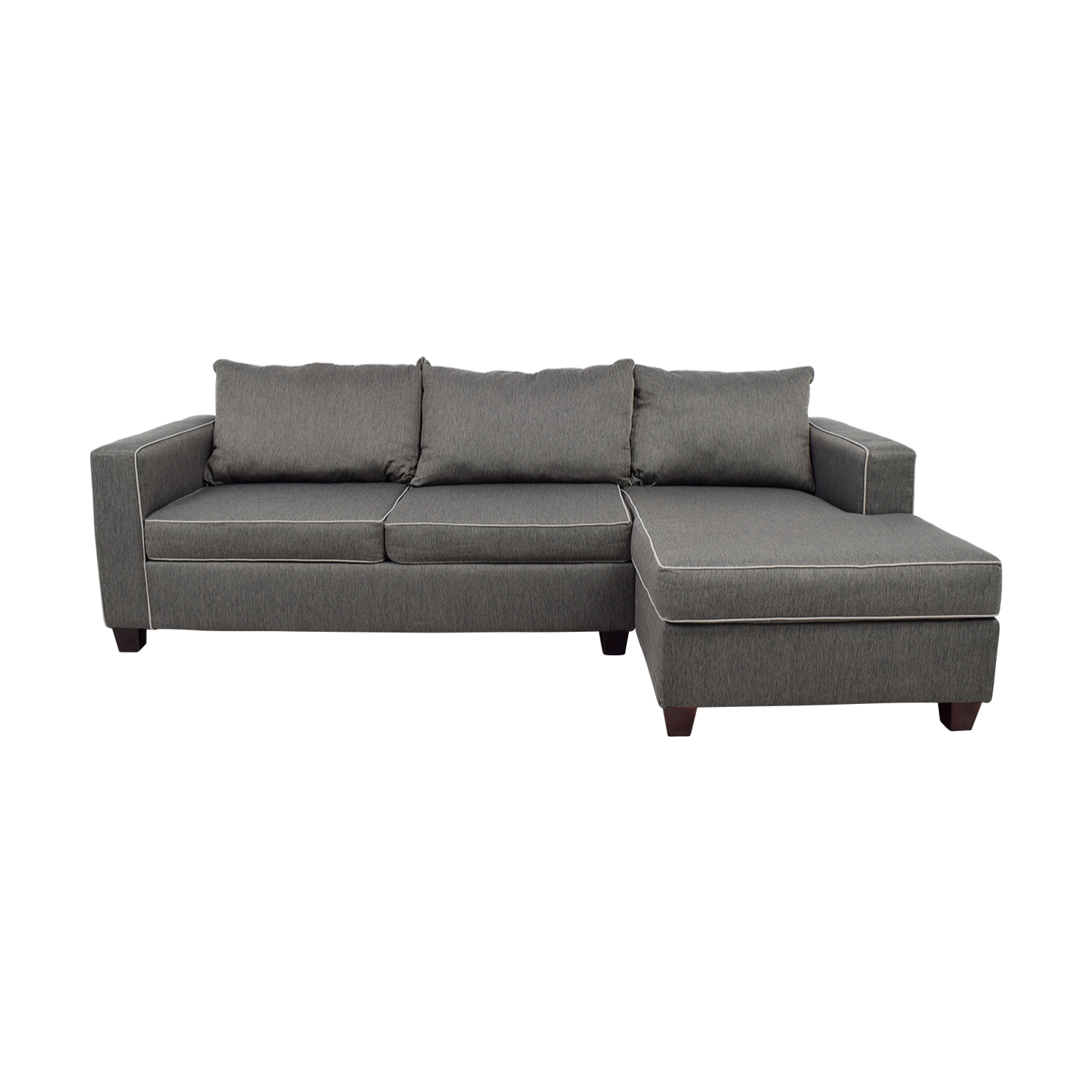 56 Off Bob S Discount Furniture Bob S Furniture Alex Grey Chaise Sectional Sofas