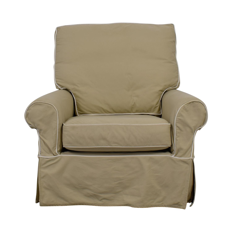 90 Off Williams Sonoma William Sonoma Beige Swivel Rocker Accent Chair Chairs