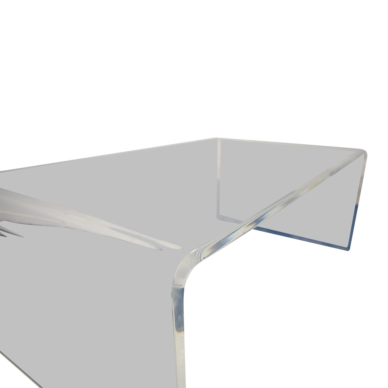 50 off cb2 cb2 acrylic coffee table tables