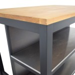 55 Off Ikea Ikea Stenstorp Wood Chrome And Black Kitchen Island Tables