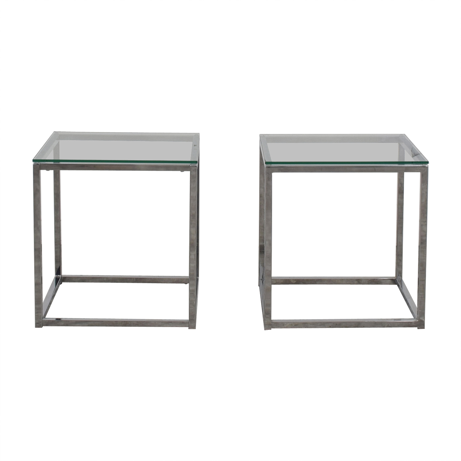 63 Off Cb2 Cb2 Glass Side Tables Tables