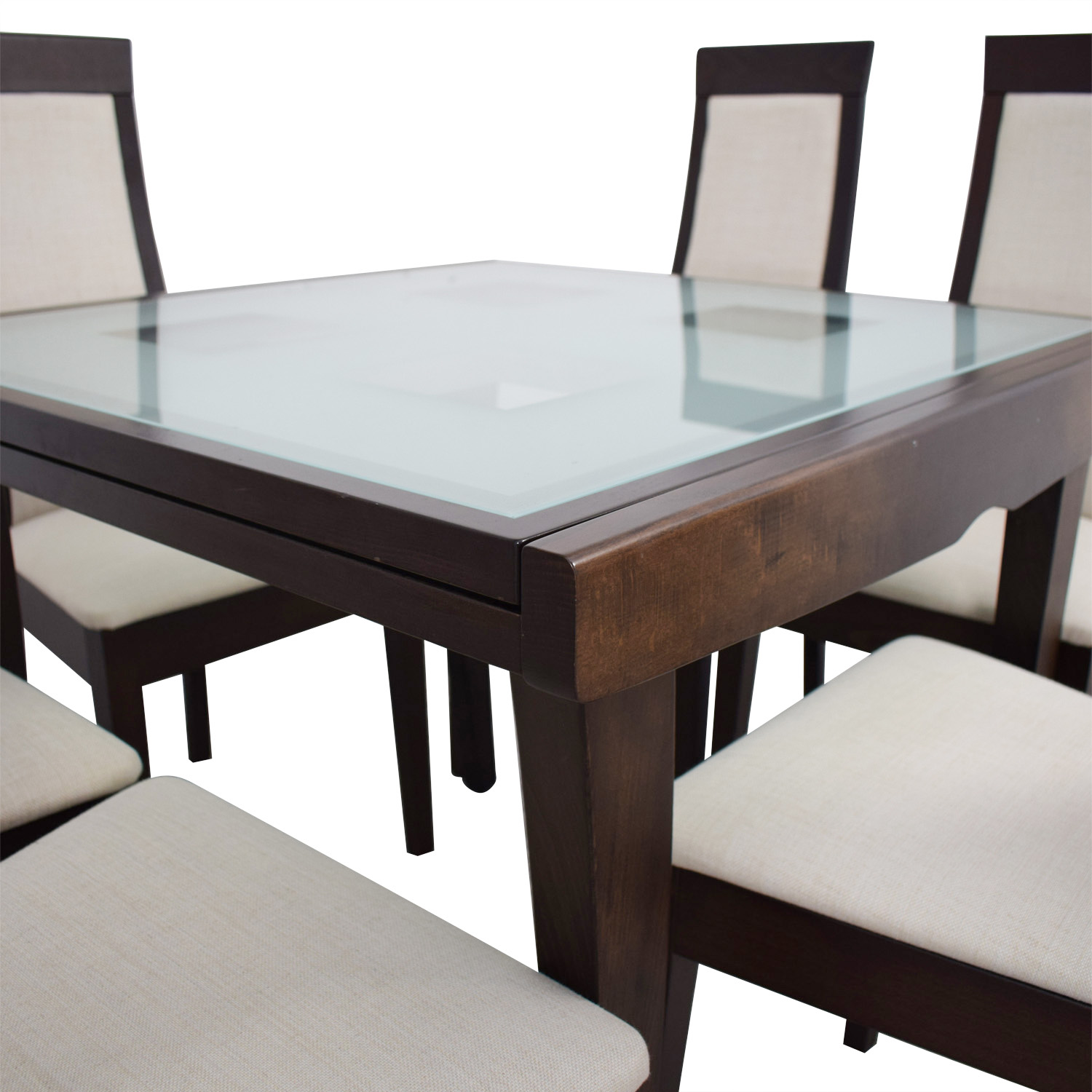 71 Off Calligaris Calligaris Extendable Glass And Wood Dining Set Tables