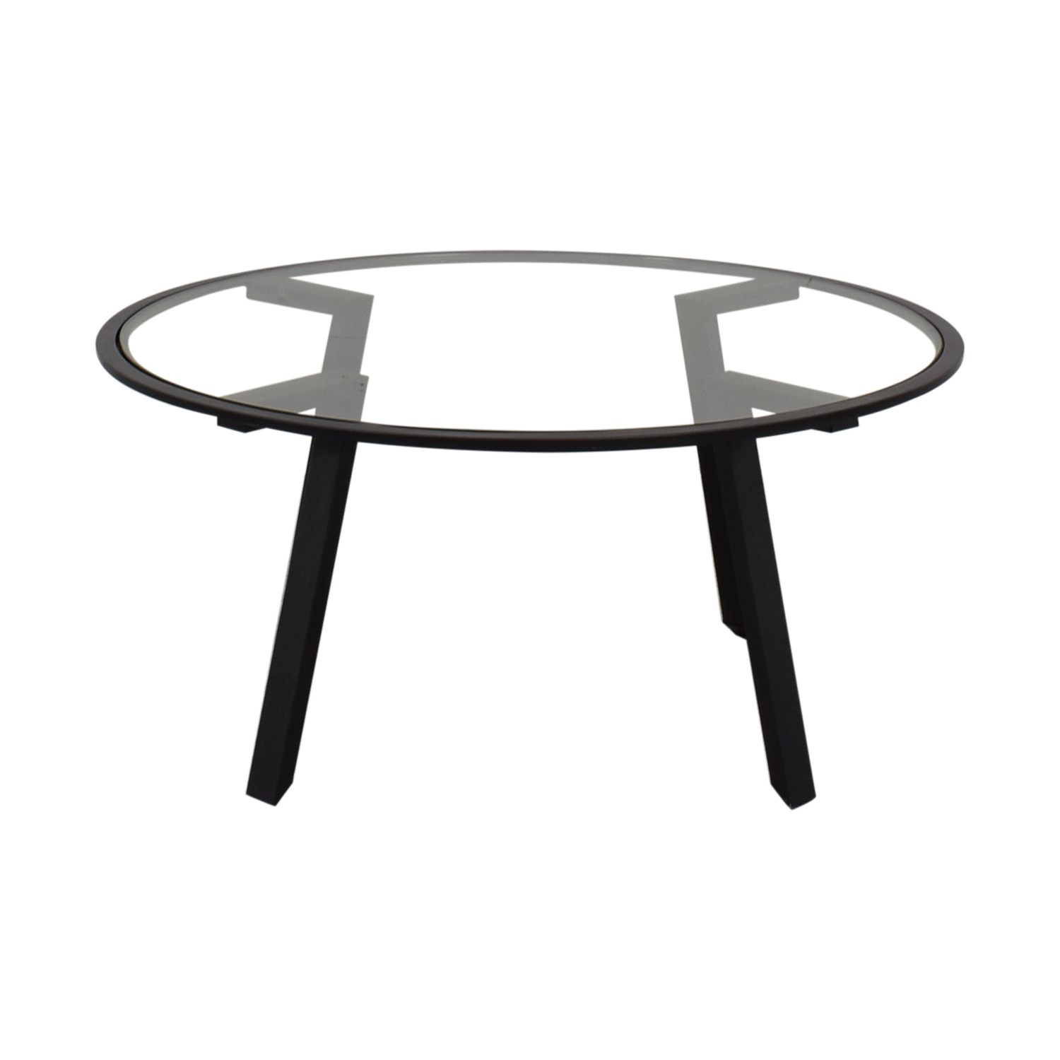 90 off homegoods homegoods round glass coffee table tables