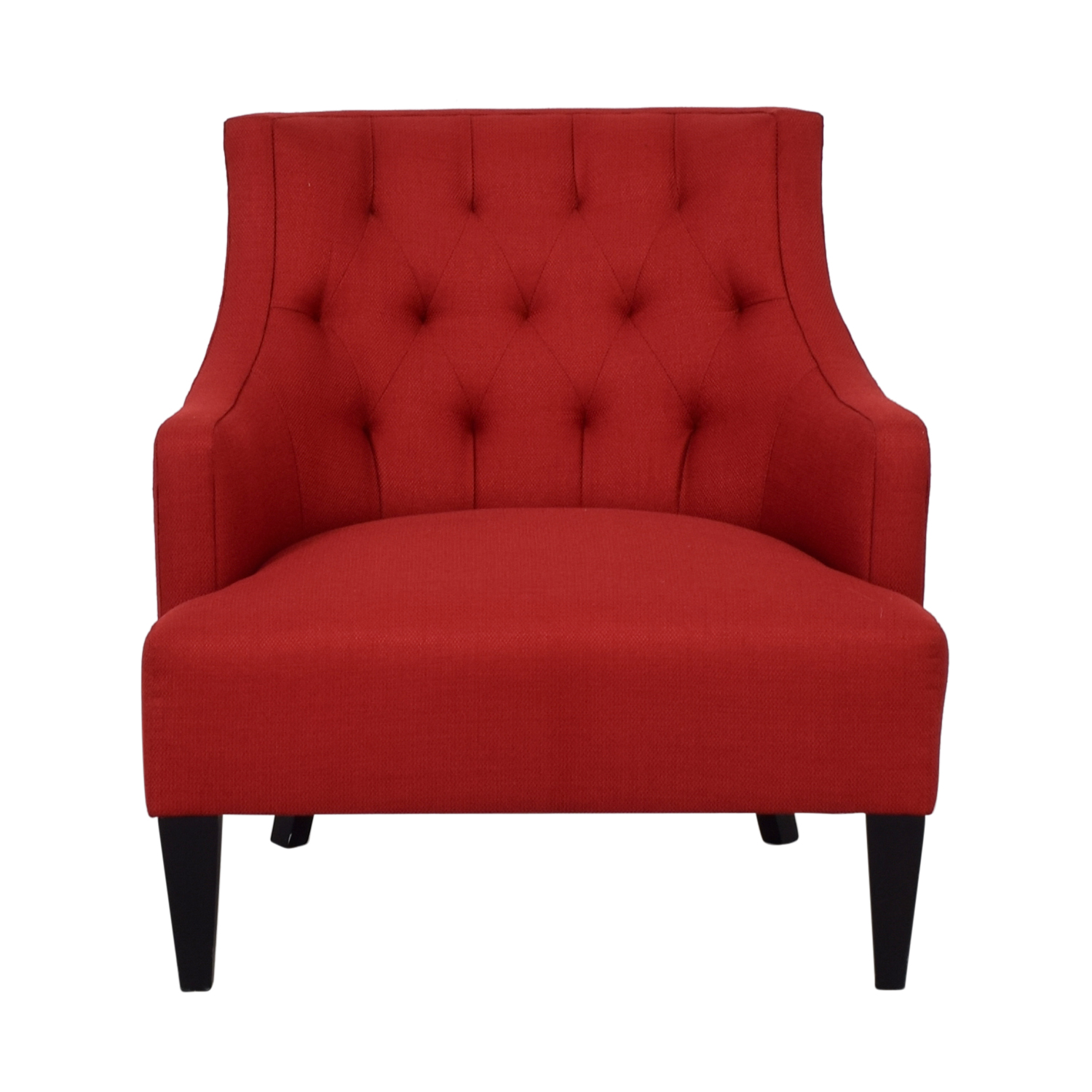 70 Off Crate Barrel Crate Barrel Red Fabric Accent Chair Chairs
