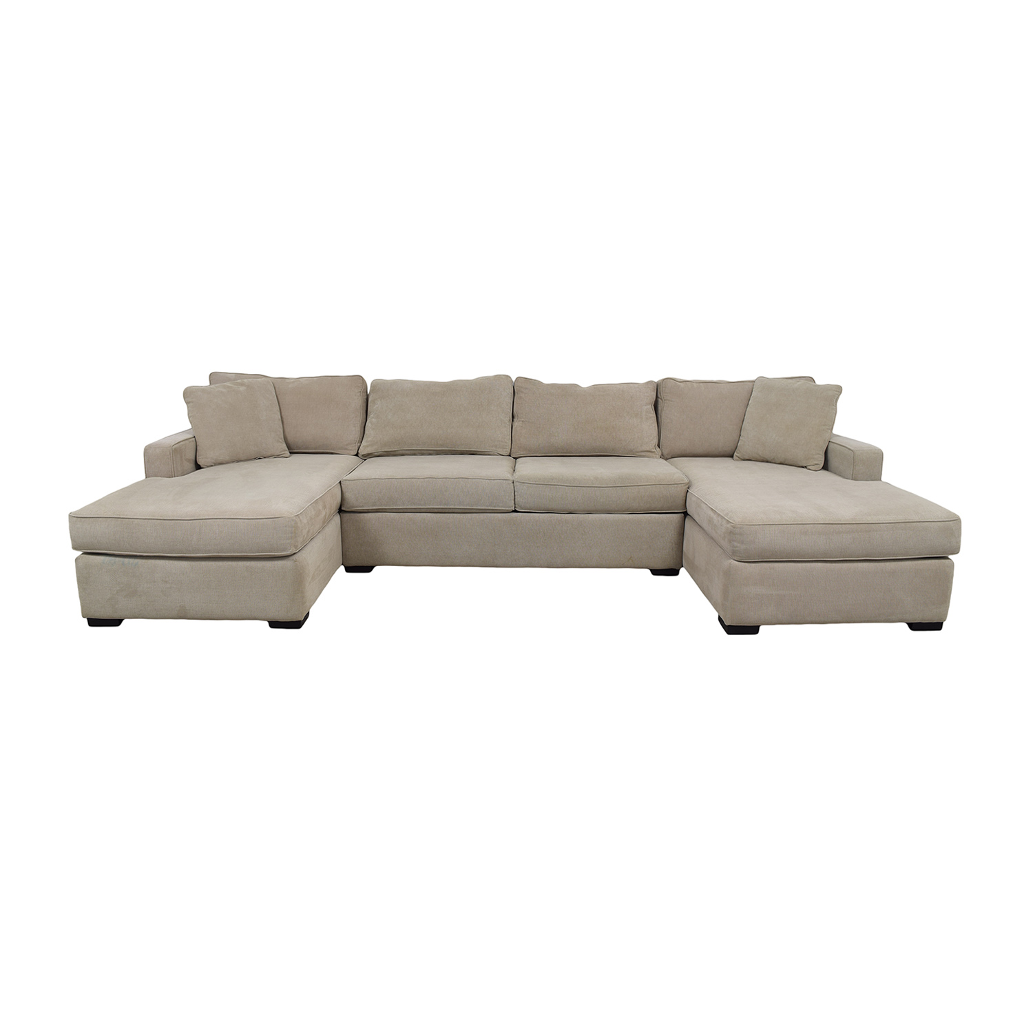54 off macy s macy s beige double chaise sectional sofas