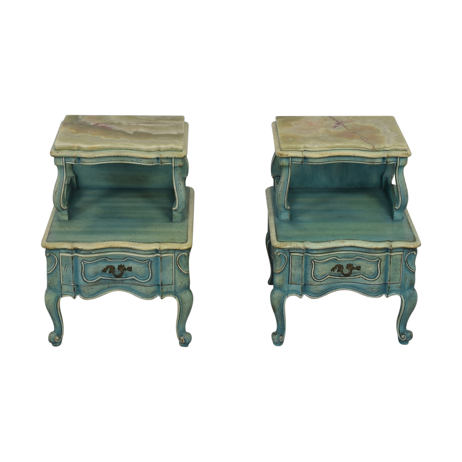 90 Off French Blue Single Drawer Night Tables Tables