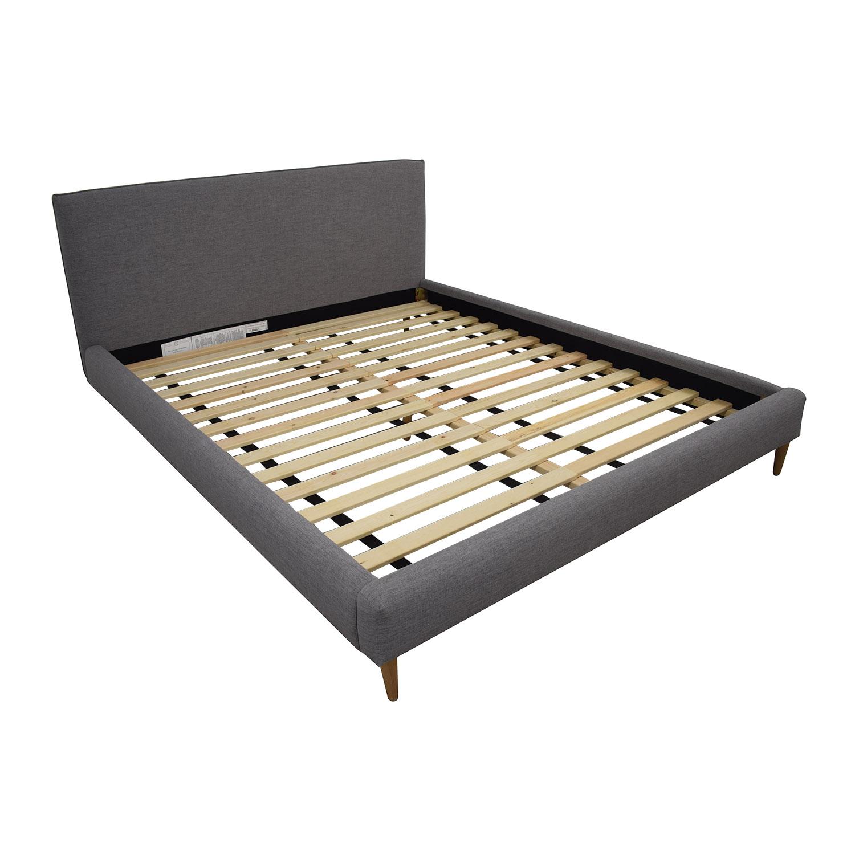 50 Off Harper Grey California King Platform Bed Frame Beds