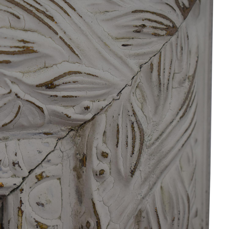 77 off distressed white antique shabby chic mirror decor