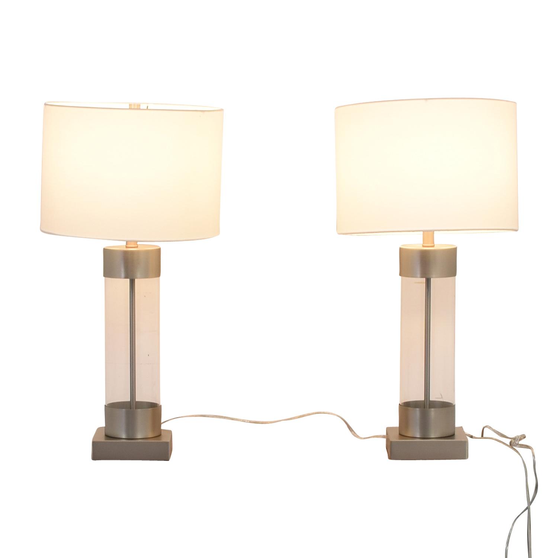 64 off crate barrel crate barrel avenue table lamps with usb port decor