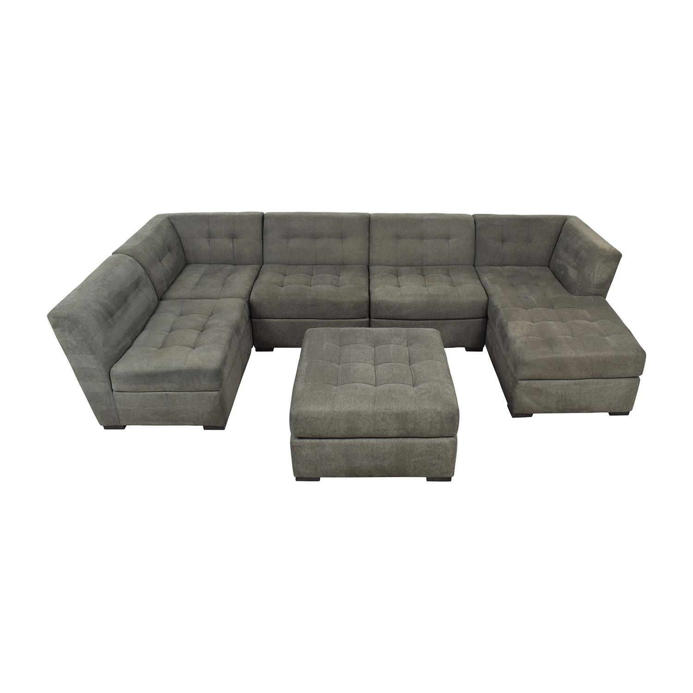 82 off macy s macy s roxanne ii modular sectional sofa with chaise ottoman sofas