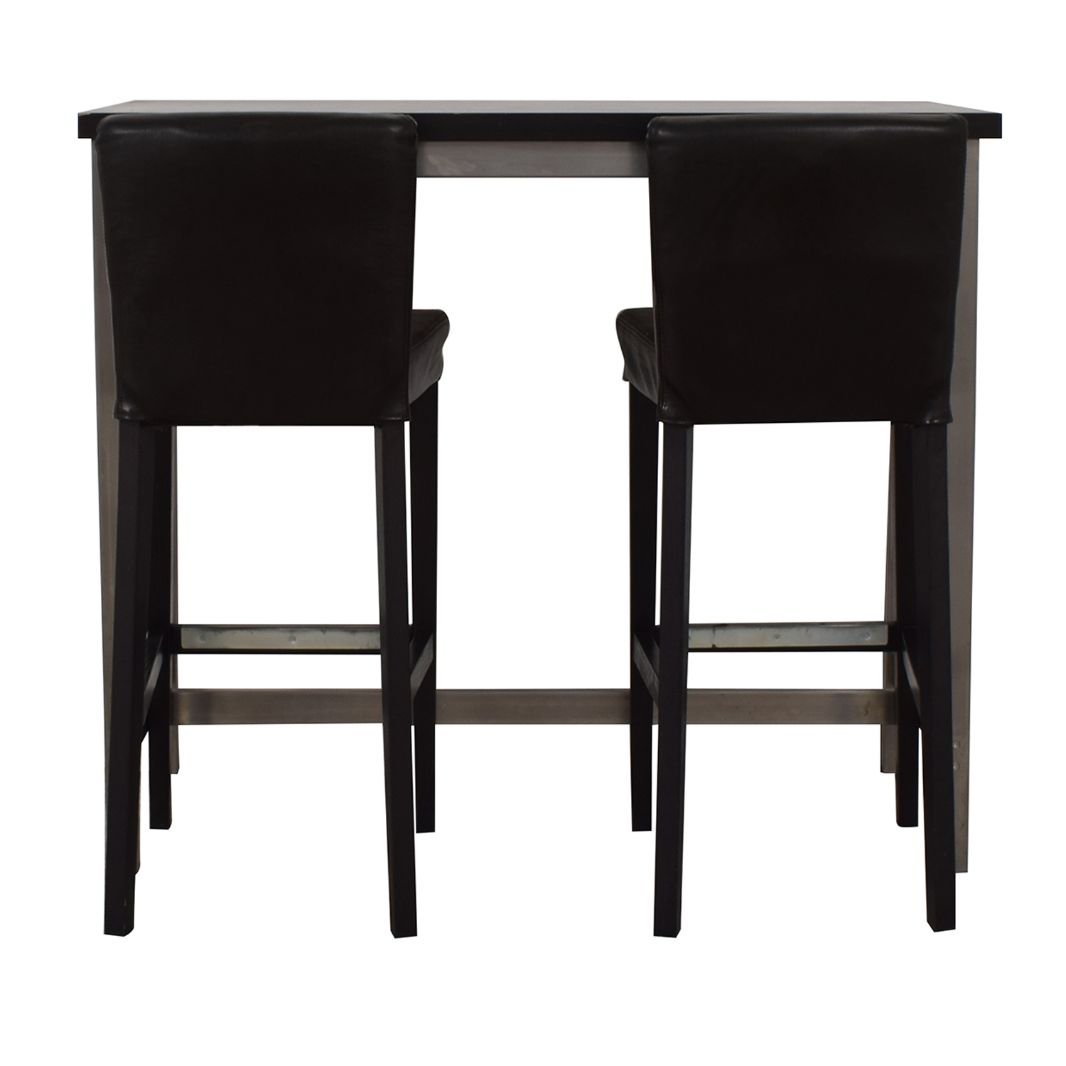90 off ikea ikea henriksdal counter height brown and chrome dining set tables