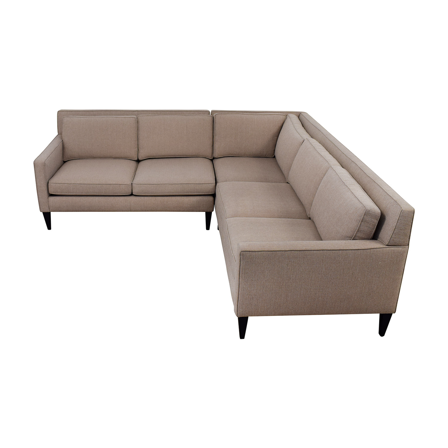 74 off crate barrel crate barrel rochelle midcentury modern sectional sofas