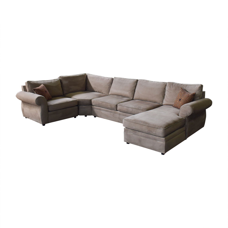 83 off pottery barn pottery barn u shaped sectional sofas