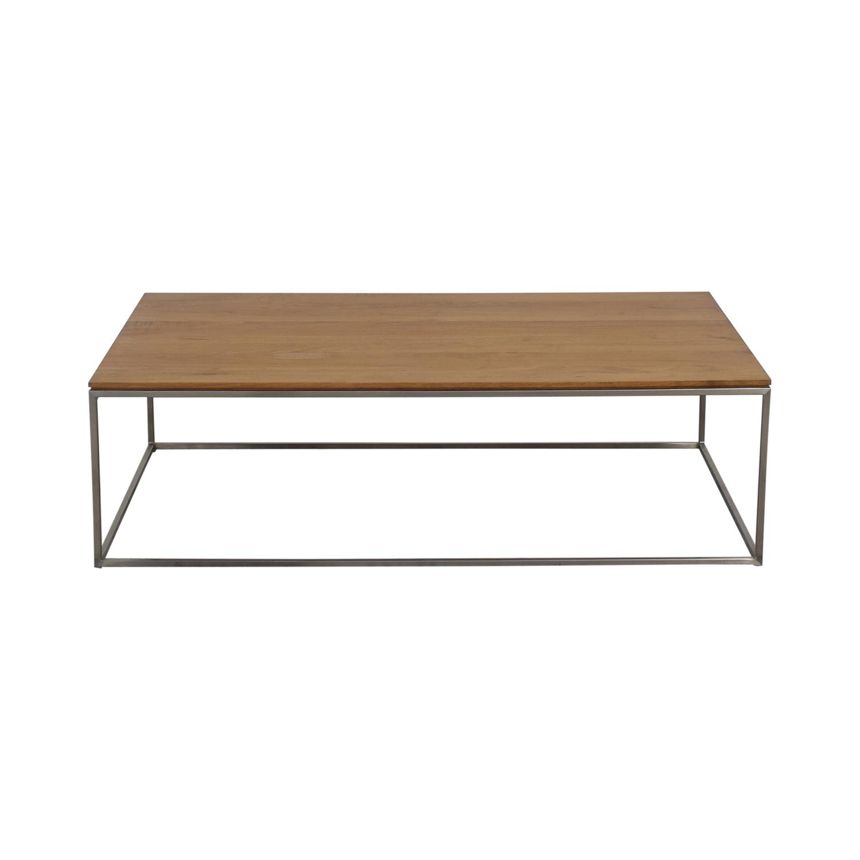 62 off crate barrel crate barrel frame medium coffee table tables